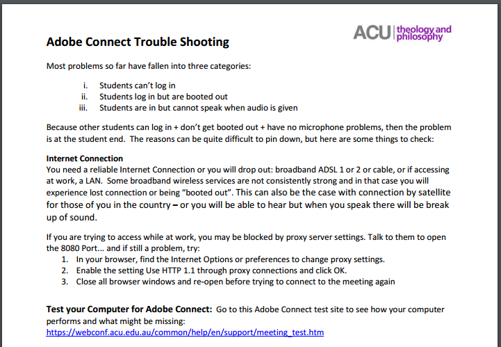 Adobe Connect Notes